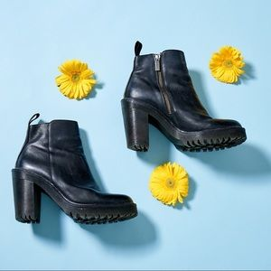 Black Dr. Martens Magdalena High Heel Booties